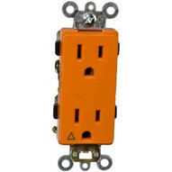 Morris Products 81914 Decorator Isolated Ground Duplex Receptacle Orange 15a-125v-1