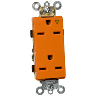 Morris Products 81924 Decorator Isolated Ground Duplex Receptacle Orange 15a-250v-1