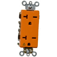 Morris Products 81929 Decorator Isolated Ground Duplex Receptacle Orange 20a-250v-1