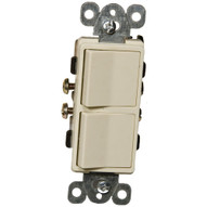 Morris Products 81980 Commercial Grade Decorator Double Rocker Switch Ivory 15a-120 277v-1