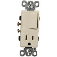 Morris Products 81990 Commercial Grade Decorator Single Pole Switch receptacle Rocker Switch Ivory-1