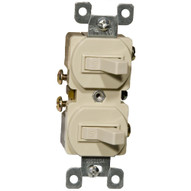 Morris Products 82090 Single Pole Double Switch Ivory 15a-120 277v-1