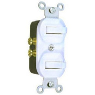 Morris Products 82091 Single Pole Double Switch White 15a-120 277v-1
