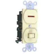 Morris Products 82095 Single Pole Switch And Pilot Light Ivory 15a-120-1