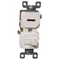 Morris Products 82096 Single Pole Switch And Pilot Light White 15a-120-1
