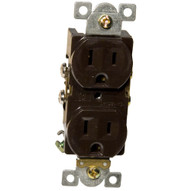 Morris Products 82142 Commercial Duplex Receptacle 15a 125v Brown-1