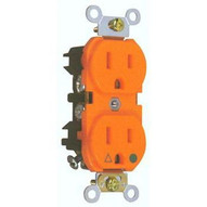 Morris Products 82228 Isolated Ground Duplex Receptacle Orange 15a-125v-1