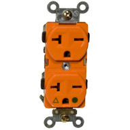 Morris Products 82238 Isolated Ground Duplex Receptacle Orange 20a-250v-1