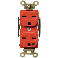 Morris Products 82258 Hospital Grade Duplex Receptacle Red 15a-250v-1