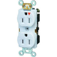 Morris Products 82446 Tamper Resistant Isolated Ground Duplex Receptacles 15a 125v White-1