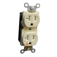 Morris Products 82450 Tamper Resistant Isolated Ground Duplex Receptacles 20a 125v Ivory-1