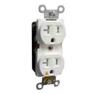 Morris Products 82451 Tamper Resistant Isolated Ground Duplex Receptacles 20a 125v White-1
