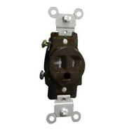 Morris Products 82457 Commercial Grade Tamper Resistant Duplex Receptacle Brown 20a-125v-1
