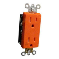 Morris Products 82479 Decorative Tamper Resistant Isolated Ground Duplex Receptacles 15a-125v Orange-1