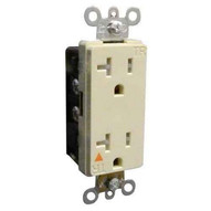 Morris Products 82480 Decorative Tamper Resistant Isolated Ground Duplex Receptacle 20a-125v Ivory-1