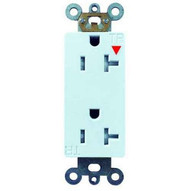 Morris Products 82481 Decorative Tamper Resistant Isolated Ground Duplex Receptacle 20a-125v White-1