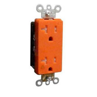 Morris Products 82484 Decorative Tamper Resistant Isolated Ground Duplex Receptacle 20a-125v Orange-1