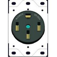 Morris Products 82526 Flush Range Receptacle 50a Black-1