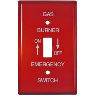 Morris Products 83491 Emergency Metal Switch Plates 1 Gang Oil-1