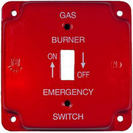 Morris Products 83492 Emergency Metal Switch Plates 4 Raised Oil-1