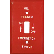 Morris Products 83496 Emergency Metal Switch Plates 1 Gang Gas-1