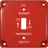 Morris Products 83497 Emergency Metal Switch Plates 4 Raised Gas-1