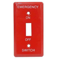 Morris Products 83500 Emergency Metal Switch Plates Utility Emergency-1