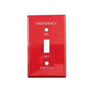 Morris Products 83501 Emergency Metal Switch Plates 1 Gang Emergency-1