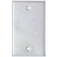 Morris Products 83610 Stainless Steel Metal Wall Plates Midsize 1 Gang Blank-1