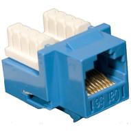 Morris Products 88022 Cat 5e 110 Type (rj45) Unshielded Keystone Jacks Blue-1