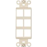 Morris Products 88130 Decorator Wallplate For Keystone Jacks & Modular Inserts Six Ports Lt. Almond-1