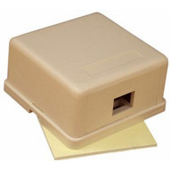 Morris Products 88252 Single Gang Surface Mount Box Ivory-1
