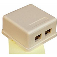 Morris Products 88256 Double Gang Surface Mount Box Ivory-1