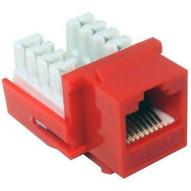 Morris Products 88423 Cat6 (rj45) Unshielded Keystone Jacks Red-1