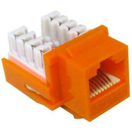 Morris Products 88427 Cat6 (rj45) Unshielded Keystone Jacks Orange-1