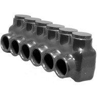 Morris Products 97528 Black Insulated Multi-cable Connector - Single Entry 6 Ports 10 - 14-1