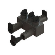 Morris Products 98052 Submersible Insulated Streetlighting Connectors Multi-port Offset #14 - 20 3 Port-1