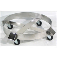 Morse 14-30SS Drum Dolly Round Type 304 Stainless Steel 20'' Diameter 1000 Lb. Capacity Steel Casters-1