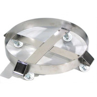 Morse 14-SSC Drum Dolly Round Type 304 Stainless Steel 23'' Diameter 1000 Lb. Capacity Stainless Casters-1