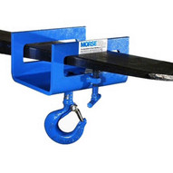 Morse 284 Fork Mount Hook Attachment With 2000 Lb. Capacity. Fork Opening Is 5.5'' Wide X 1-916'' Tall.-1