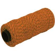 Marshalltown ML618 Bonded Mason's Line 500' Orange And Black Size 21 6 Core-1