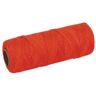 Marshalltown ML338 Braided Nylon Mason's Line 500' Fl. Orange Size 18 6 Core-1