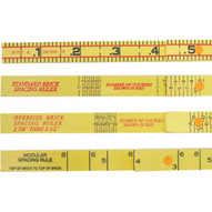 Marshalltown 6647 6' Folding Rule-oversized Brick Spacing-1