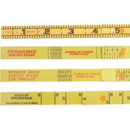 Marshalltown 6648 6' Folding Rule-mason's Modular Spacing-1