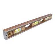 Marshalltown 48CLEVC 48 Crick 3 Piece Wood Level - Clear Vials-1