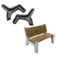 Marshalltown BMSREST Concrete Bench Mold Legs with Backrest Set-1