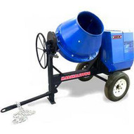 Marshalltown MIX59289 6 Cu. Ft Concrete Mixer W8hp Honda Engine Pintle Hitch-1