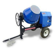 Marshalltown MIX59398 6 Cu. Ft Concrete Mixer W1.5hp Electric Engine Onoff Switch Pintle Hitch-1