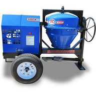 Marshalltown MIX62006B 6 Cu. Ft Concrete Mixer W1.5hp Electric Engine Onoff Switch 2 Ball Hitch-1
