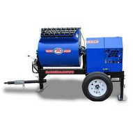 Marshalltown 1620MP13HPO 16 Cu. Ft Hydraulic Mortar Mixer W13hp Honda Engine Pintle Hitch Outriggers-1